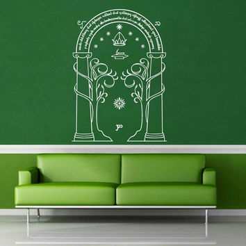 Door of Dorrin - Tolkien - Wall Decal$19.95