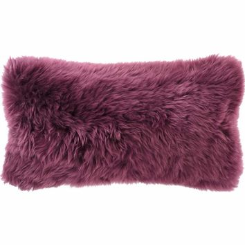 """Boysenberry Longwool Combed Pillow - 11""""x22"""""""