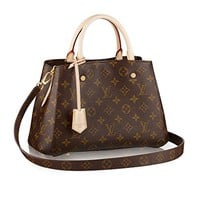 Louis Vuitton Monogram Canvas Montaigne BB Handbag Article:M41055 Made in France