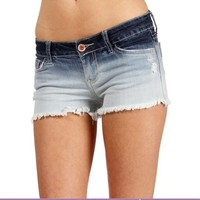 Dark Denim/Light Denim Ombre Shorts