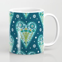 Floral Hearts Mug by Sarah Oelerich