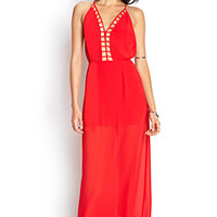 FOREVER 21 Caged Maxi Dress