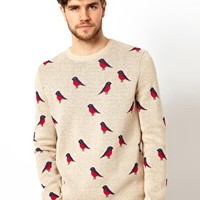 ASOS Bird Design Jumper at asos.com