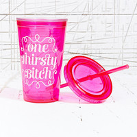 Thirsty B*itch To Go Flask - Urban Outfitters