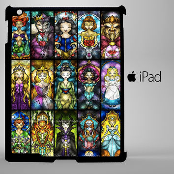 Disney Princesses And Other Character iPad 2, iPad 3, iPad 4, iPad Mini and iPad Air Cases