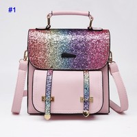 New fashionable women's backpack sequined travel bag backpack