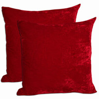 Red Velvet Throw Pillows (Set of 2)