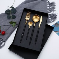 Modern Metallic Cutlery Set
