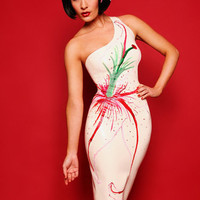 Latex Painted Lily Dress