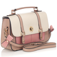 Colour Block Edge Painted Satchel | Multi | Accessorize