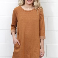 Pumpkin Patch Tunic Dress {Rust}