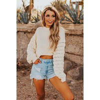 Knit The Plan Sweater (Ivory)