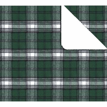 Boxercraft Green and White Flannel Blanket