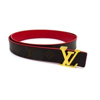 LOUIS VUITTON San tulle Reversi belt Monogram M9468 BC1784 Brown (7037