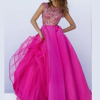 Embellished Bodice Sherri Hill Formal Prom Gown 32359