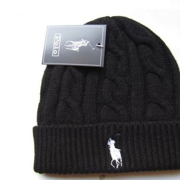 Winter Warm Comfortable Soft Knitted Polo Beanie