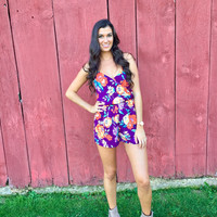 Tough Act to Follow Floral Romper