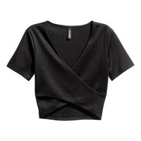 Short Wrapover Top - from H&M