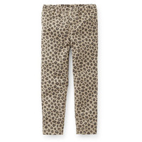 Animal Print Stretch Twill Jeggings