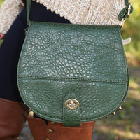 When I'm Without You Purse: Hunter Green - One