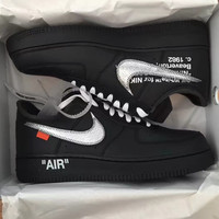 Nike Off White X Air Force 1 Virgil X Moma Low help classic shoe