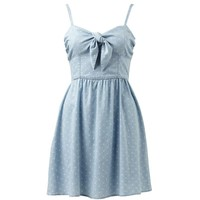Torquay Spot Print Tie Front Dress - Forever New