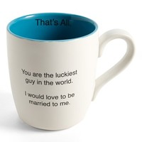 'That's All - You Are the Luckiest Guy in the World. I Would Love to Be Married to Me' Mug - White