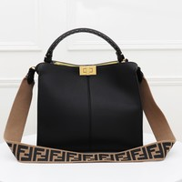FENDI Hot Sale Popular Women Shopping Leather Handbag Tote Shoulder Bag Crossbody Satchel