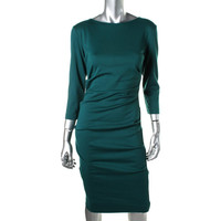 Nicole Miller Womens Ruched Knee-Length Party Dress
