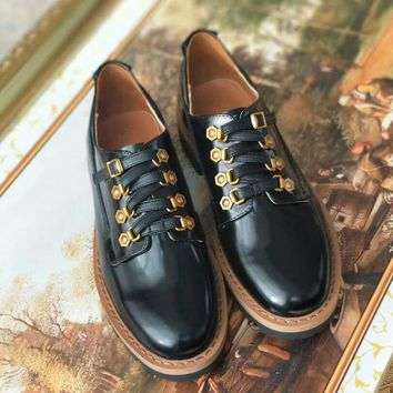 Dior Women Leather Flats Oxfords Shoes