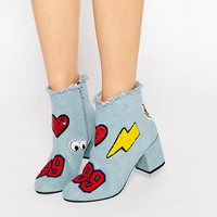 ASOS ROWDY Patchwork Ankle Boots at asos.com
