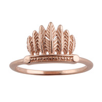 Sacred Rites Feather Ring Rose Gold