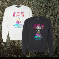 Fall Out Boy Paramore clothing sweater Crewneck Unisex Adults Size Black White