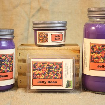 Jelly Bean Candle and Wax Melts, Candy Scent Candle, Highly Scented Candles and Wax Tarts, Easter Candle, Jellybean Mason Jar Candle