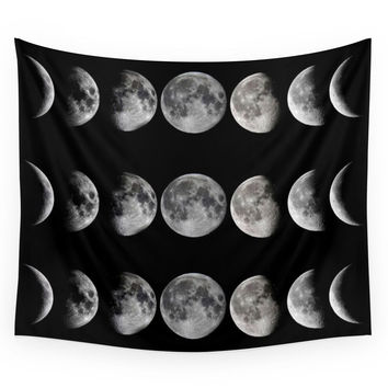 Society6 Phases Of The Moon Wall Tapestry