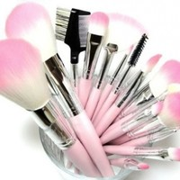 16 Piece Pink Synthetic ...