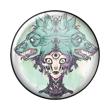 Wolf Woman, 1-Inch Pin Button