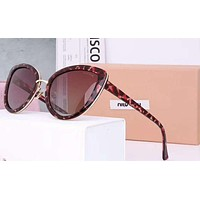 Miumiu Fashion Trending Women Popular Summer Sun Shades Eyeglasses Glasses Sunglasses Leopard grain G-A-SDYJ