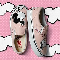 Trendsetter VANS X Peanuts Slip-On Snoopy Canvas Old Skool Flats Sneakers Sport Shoes