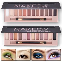 2017 Cosmetic Makeup Shimmer Matte Naked Palette Make Up Colors Pigment Eyeshadow Palette Sombras Nudes Matte Eye Shadow