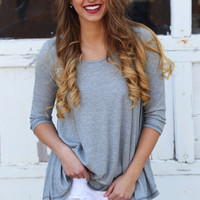Ready Set Basic Gray Tunic