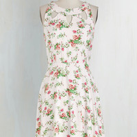 Mid-length Sleeveless A-line Cutout of This World Dress in Garden
