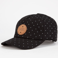 Vans Dotted Womens Strapback Hat Black One Size For Women 24804610001