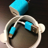 Customized iPhone 5 charger (glitter charger)