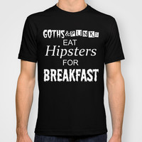 GOTHS AND PUNKS 2 T-shirt by Simply Wretched
