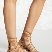 Faux Suede Gladiator Sandals
