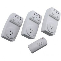 Generic Outlet Wireless Remote Wall Outlets, 3 Outlets with 1 Remote