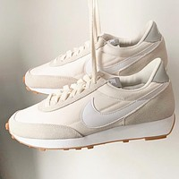 Nike Daybreak Retro Women Men Classic Sport Jogging Shoes Sneakers Beige&White