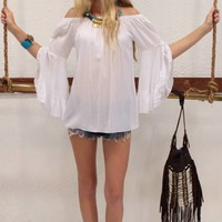 White Butterfly Gypset Top