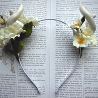 Spring Forest Nymph headband with Antlers